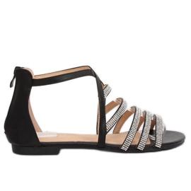 Sandálias das mulheres negras LL6339 Preto