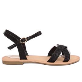 Sandálias das mulheres negras e pretas WL282 Preto