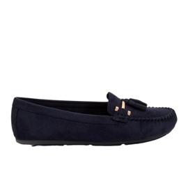 Marinha Mocassins para mulheres azul L7183 Azul
