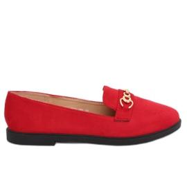 Mocassins femininos vermelho 1631-123 vermelho