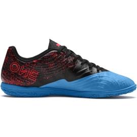 Botas de futebol Puma One 19.4 It M 105496 01 preto e azul