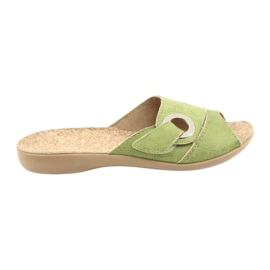 Sapatos femininos Befado pu 265D008 verde
