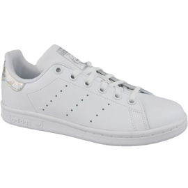 Branco Sapatos Adidas Stan Smith Jr EE8483