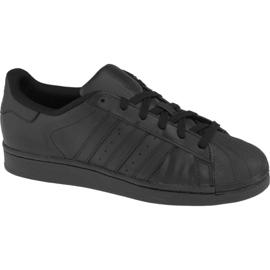 Preto Sapatos Adidas Superstar J Foundation Jr B25724