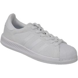 Sapatas de ressalto Superstar da Adidas BY BY1589 branco