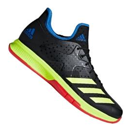 Adidas Calçados de handebol Adimbabassos Bounce M BD7408 Counterblast preto preto, amarelo