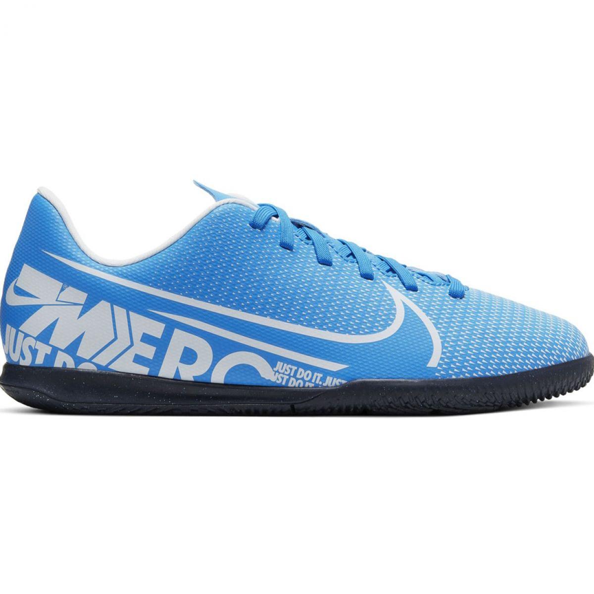 Sapatos de futebol Nike Mercurial Vapor 13 Clube Ic Jr. AT8169 414 azul azul