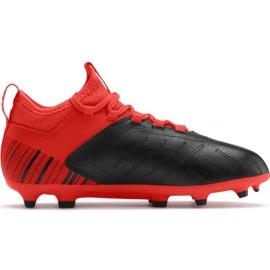 Chuteiras de futebol Puma One 5.3 Fg Ag JR105657 01 vermelho preto