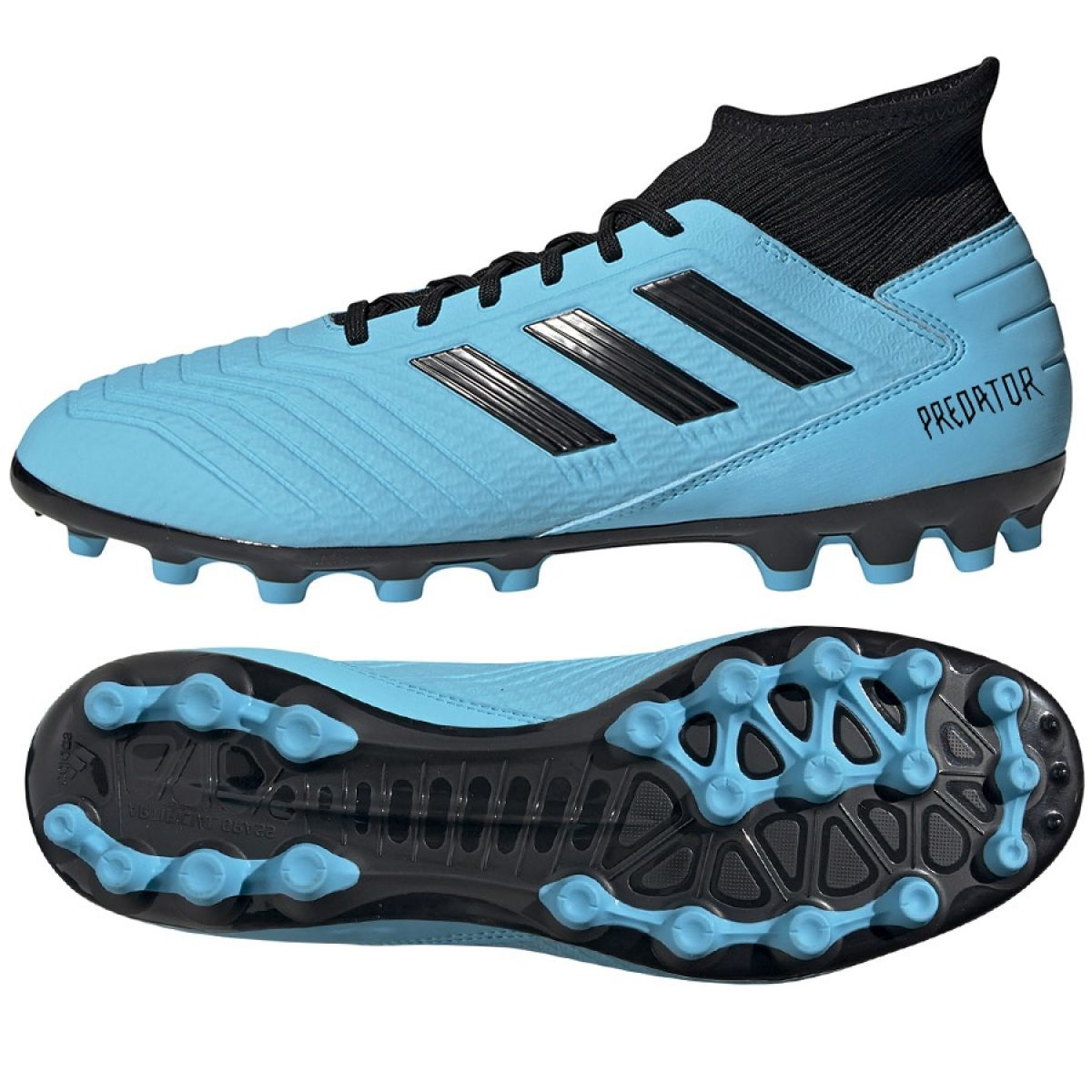 Chuteiras de futebol adidas Predator 19.3 Ag M F99990 azul azul