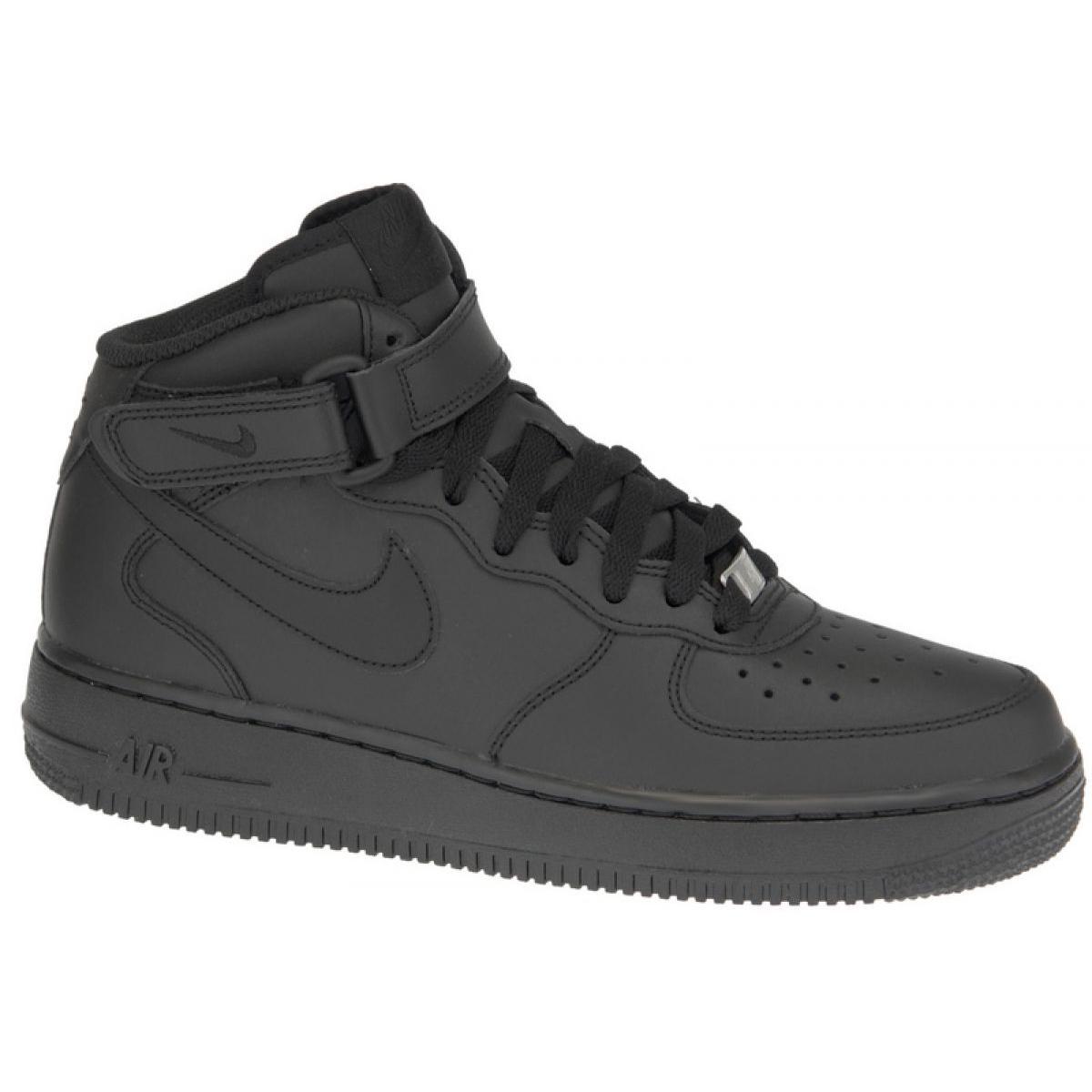 Sapatos Nike Air Force 1 Mid Gs W 314195 004 preto