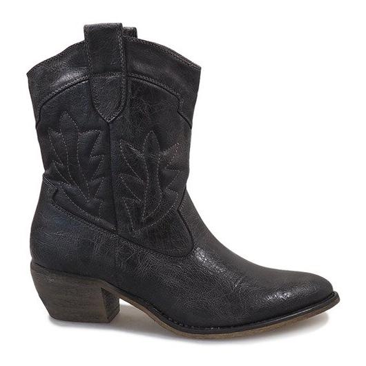 Botas de cowgirl cinza 10601-1