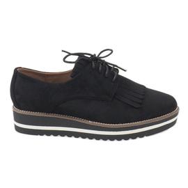 Sapatos pretos atados A510-2
