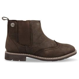 Marrom Sapatos com isolamento alto atados 4682 Brown