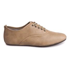 Marrom Sapatos elegantes Jazzówki 8312 Bege