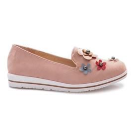 -de-rosa Rosa slip-on Multi Flor cunha saltos