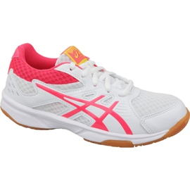 Sapatos de voleibol Asics Upcourt 3 Gs Jr 1074A005-104 branco branco