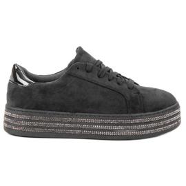 Bestelle preto Suede Sport Shoes