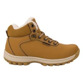 Ax Boxing amarelo Sapatos de Trekking Isolados