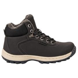 Ax Boxing cinza Sapatos de Trekking Isolados