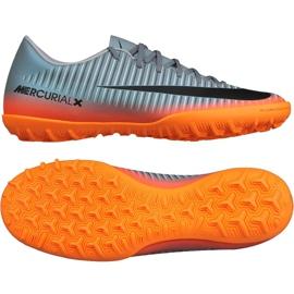 Tênis Nike MercurialX Victory Vi CR7 Tf M 852530 001 cinza cinza / prata