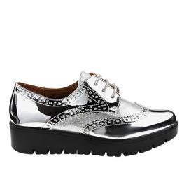 Cinza Sapatos de renda prateada TL-60