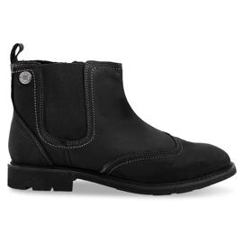 Sapatos altos com isolamento baixo 4682 preto