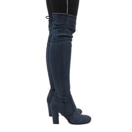 Azul Botas de ganga com rasgos BH71-HB