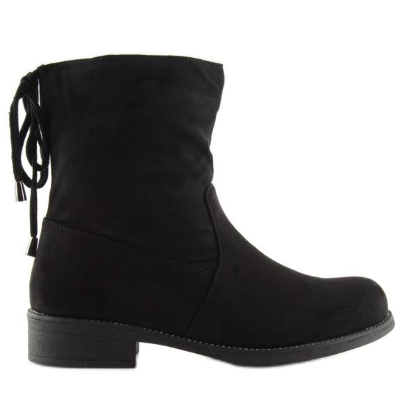 Sapatos femininos pretos 7378-PA Preto