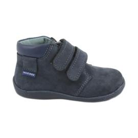 Marinha Sapatos para menino com velcro Mazurek 341 azul marinho