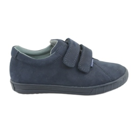 Sapatos para menino Velcro Mazurek 268 azul marinho marinha