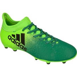 Calçado de futebol Adidas X 16.3 Fg M BB5855 verde verde