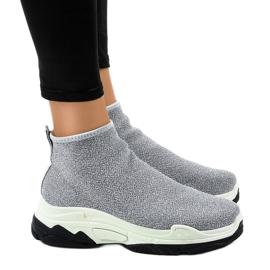 Sapatos esporte cinza com elástico LA33P