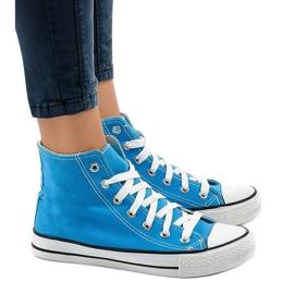 Sapatilhas altas clássicas azuis DTS8224-16 azul
