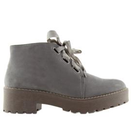 Sapatos femininos de botas cinza LL219 Cinza