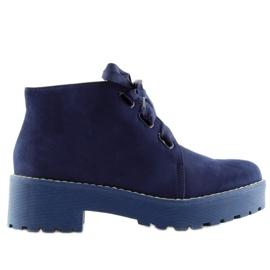 Marinha Botas sapatos femininos azul escuro LL219 Azul