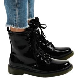 Botas de couro preto SD708