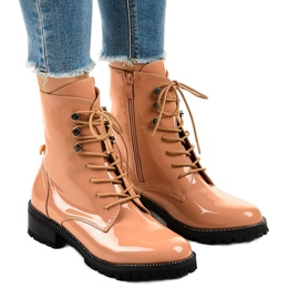 -de-rosa Botas altas de mulher rosa XW37278