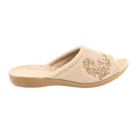 Sapatos femininos Befado pu 256D013 marrom