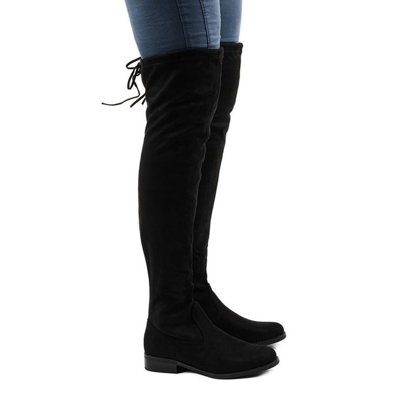Botas de camurça para mulher 8926 preto