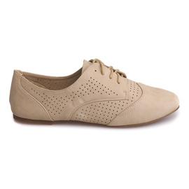 Marrom Sapatos Jazz Openwork baixos 219 bege