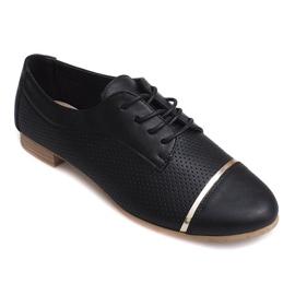 Openwork Jazz sapatos baixos femininos 6-154 preto
