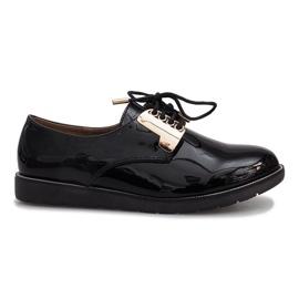 Sapatos laqueados pretos Rose