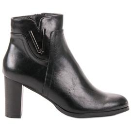 Vinceza Botas pretas de tornozelo preto