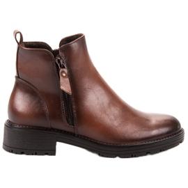 Vinceza Botas de tornozelo baixas marrom
