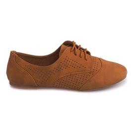 Marrom Openwork Jazz Shoes Low 219 Camel