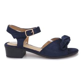 Marinha Noemia azul escuro sandálias de salto alto