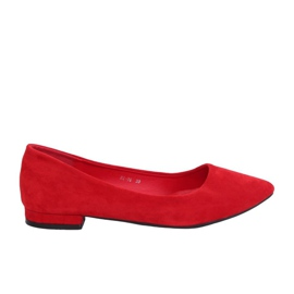 Bailarinas com dedos amendoados vermelhos RC-76 Vermelho