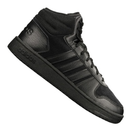 Preto Sapatilhas Adidas Hoops 2.0 Mid M B44649