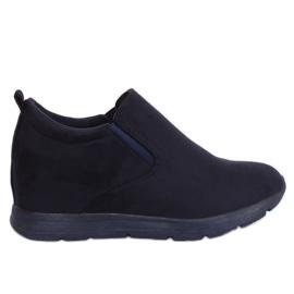 Sapatos em uma cunha marinha escondida ZY-7K67 Azul