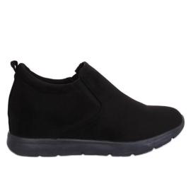 Sapatos em uma cunha escondida preto ZY-7K67 Preto